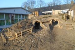 Natuurbelevingstuin-tunnels