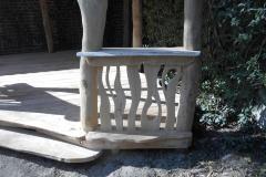 houten zithekje